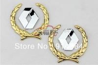 Used For Renault  series general Side Mark Car Chrome Metal Badge Emblem (8*6CM)(1pcs is 2 items)