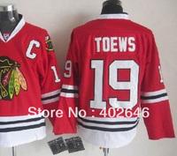 hockey Blackhawks #19 Jonathan Toews red jersey, sizeM/48, L/50, XL/52, XXL/54, please read size chart before order