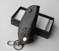 Free Shipping Toyota Corolla/VIOS Leather Smart Key Holder/Key Sets(2 Button)