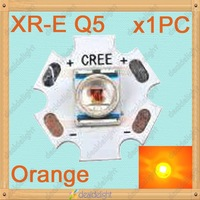 Cree XLamp XR-E Q5 1W 3W Orange LED Light Emitter Bulb mounted on 20mm Star PCB 610-620NM