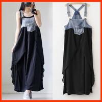 2014 New Arrival Chiffon Maternity Dresses Denim Splicing Maternity Skirts Fashion One Piece Dress BB01