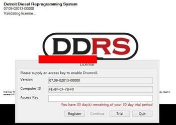 Detroit Diesel Reprograming System 7.09 (DDRS 7.09) + DDRS KEYGEM