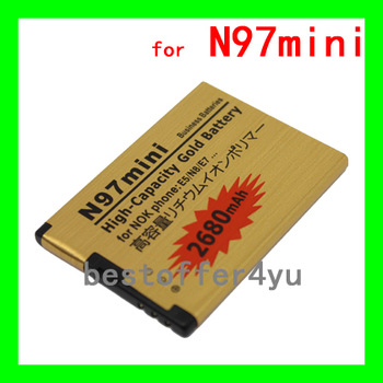 BL-4D battery N97 MINI Gold 2680mAh High capacity Replacement battery For NOKIA N97MINI E5 E7 N8 702T T7 Batterie