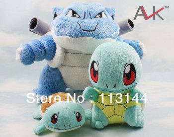Free shipping 3pcs/set Pokemon POCKET MONSTER Squirtle Plush Doll&Toys,Pokemon Squirtle Stuffed Animals Dolls