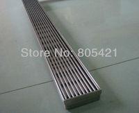Free shipping (600mm length ) 304ss linear grate drain  floor drain