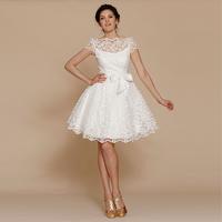 September2000 2013 cutout lace bride wedding dress short design formal dress puff dress bridesmaid dress j2041