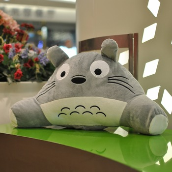 Totoro waist support pillow plush toy cushion pillow decompression tournure