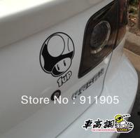 11 x 15 freeshipping vw polo mazda cruze car accessories Super Mario cute Mushroom head 1up refit reflective sticker car sticker