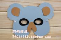 free shipping 10pcs/lot 10g child performance props halloween child cartoon animal eva mask - koalas mask