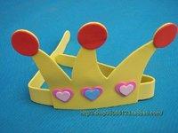 free shipping 10pcs/lot 10g birthday eva hat child birthday yellow