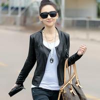 Free shipping Spring 2014 fashion new thin section of motorcycle jacket slim short coat