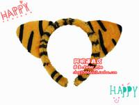 free shipping 6pcs/lot 20g cartoon headband hair accessory masquerade party supplies little tiger ear hair bands halloween
