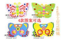 free shipping 6pcs/lot Diy handmade glasses mask eva stereo sticker animal butterfly cat yakuchinone 35g