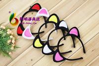 free shipping 6pcs/lot 15g halloween hair bands ball hair accessory headband cat ears headband
