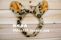 free shipping 6pcs/lot 20g masquerade halloween party supplies child products headband - - leopard print cat ears