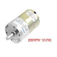 220RPM 12VDC 6mm Shaft Dia 2 Pins Speed Reducing Geared Motor