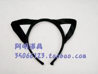 free shipping 6pcs/lot 20g cartoon headband masquerade halloween party supplies child products - - cat ears headband