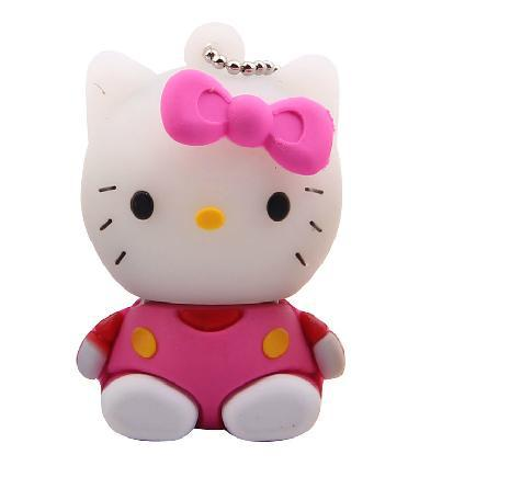 Free Shipping 1GB 2GB 4GB 8GB 16GB 32GB 64GB Lovely Hello Kitty USB Flash Drive Disk(China (Mainland))