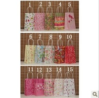 Fashionable kraft bag 50pcs Cute paper bag gift bag 21*13*8cm