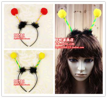 15g child animal headband fur ball hair bands hair accessory cartoon bee ant headband hair accessory hair bands