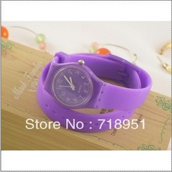 Swatchs personality luxuriant rubber belt ladies watch (color) Silica gel sweethearts watch fashion(China (Mainland))
