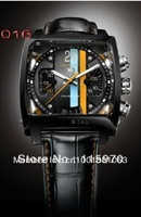 NEW luxury men mechanical watches automatic morgan black case black dial mens dress watches