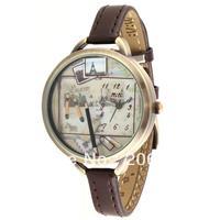 MN970 MINI watch 3D pen watch DIY Handmade Genuine Leather Quartz Ladies watch 1pc+free shipping