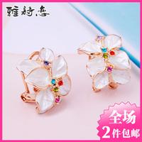 ITALINA exquisite flower stud earring earrings female vintage personality elegant