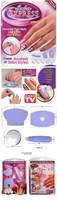 Salon Express New DIY Design Kit Professional Nail Art Stamp Stamping Polish Nail Decoration as shown on tv