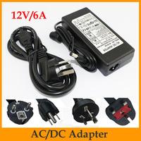 Promotion!!  AC85~265V to DC 12V/6A power supply adaptor transformer switching for led light US/EU/AU/UK Plug