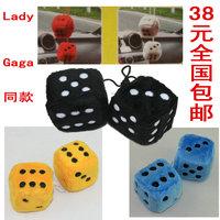 Large car pendant car dice plush dice bosons lady gaga lucky dice