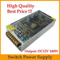 Free China Post 1pcs/lot led driver switching adjustable power supply Adapter convers 12V 20A 240w For led strips