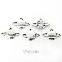 Hot Sale new Wholesale  30pcs Tibetan Silver Planet Shaped Pendants Charms Pendants Fit Necklaces  41720