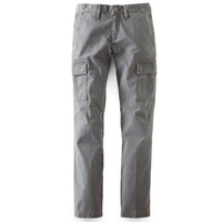 Nop male casual pants slim three-dimensional cut tooling casual pants grey