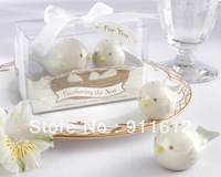 Feathering the Nest Ceramic birds Salt and Pepper Shaker 10Set/Lot wedding favors and gifts 2PCS/Set