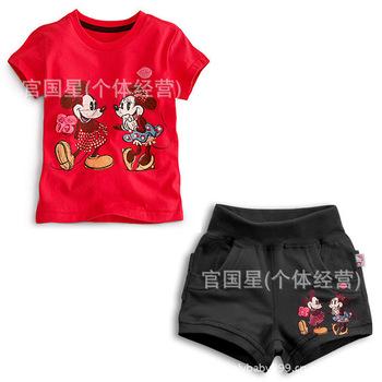 2013 Best Selling Children Kids Clothing Girls Minnie Design Cartoon Wear HOT Selling 5 sets a lot