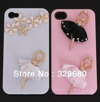 Free shipping-5pcs/lot 50*55mm  BALLERINA GIRL diy mobile phone cover Accessories,mobile phones beauty,phone jewelry decoration