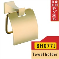Free shipping BH077J brass tissue holder paper holder paper rack with cover golden/gold bathroom fittings bathroom accessories