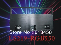 Newest Arrival Three Lens Three Colors Red&Green/Blue 550mW Disco KTV Laser Light