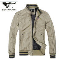 SEPTWOLVES jacket male spring new arrival jacket casual men's clothing outerwear 2013 spring