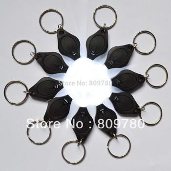 10pcs Mini white light 22000mcd  LED Flashlight Keychain Torch Gift Toys+  Free shipping