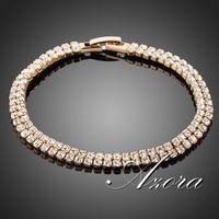 AZORA 18K Real Gold Plated Full Stellux Austrian Crystal Bracelet TS0017