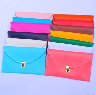 New Arrival Vintage Candy Colors Clutch Chain Lady Purse Envelope Handbag PU Tote Shoulder Hand Bag Free Shipping Wholesale