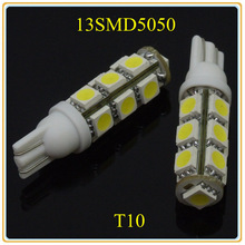 Free shipping 2013 W5W T10 13SMD5050 high brightness with lens LED Clearance/Reading Light Wholesale and retail(China (Mainland))