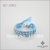 2013 Light Blue Cotton Friendship Bracelets