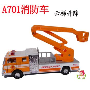 Ambulance ladder lift truck alloy engineering car model toy acoustooptical WARRIOR