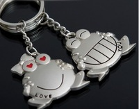 Wholesale Lovers frog keychain key ring key chain wedding gift