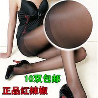 2014  Plus Crotch Pantyhose Antidepilation Wire Sexy Ultra-thin Wear-resistant Core-spun Yarn Pantyhose Free Shipping