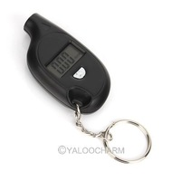HOT New Item 1pc Digital Car LCD Mini Tyre Tire Pressure Gauge Batcher Keychain Key Ring 80443 Free Shipping