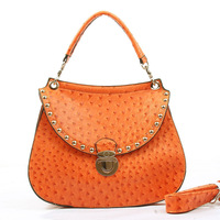 2013 ostrich vintage handbag shoulder bag messenger bag female bags small bag